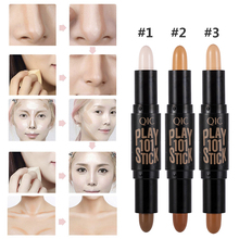 New Lady Facial Highlight Foundation Base Contour Stick Beauty Make Up Face Powd