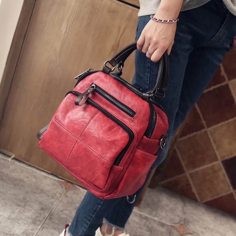Autumn new style Women Real Split Suede Leather Shoulder Bag Casual Handbags Messenger Top handle bags Travel Back Packs-in Top-Handle Bags from Luggage & Bags    1
