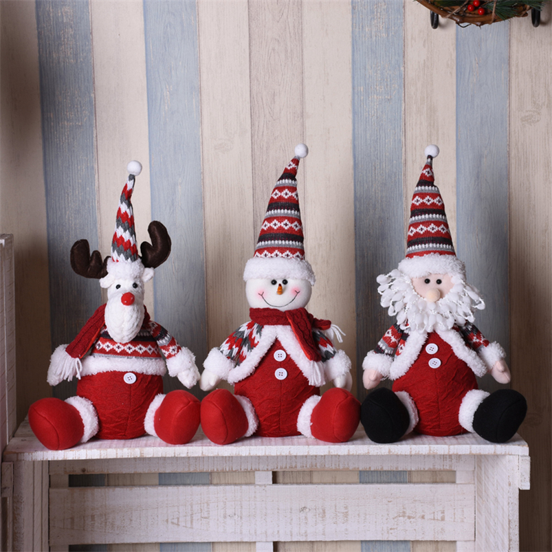 Christmas Tree Ornament Standing Figurines Dolls Xmas Decoration Santa Claus New
