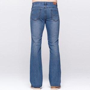 Image 5 - Мужские облегающие джинсы GRG, классические Стрейчевые небесно голубые джинсы с потертостями, повседневные Стрейчевые джинсы