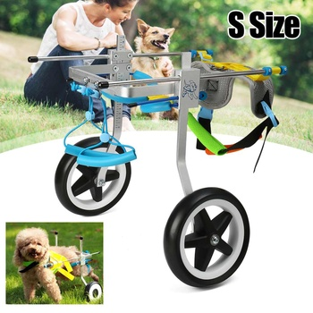 Aluminum Stainless Steel Dog Wheelchair Pet Scooter Pet Rehabilitation Adjustable Training Wheelchair For Disabled Dog Cat Pet
