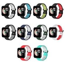Para xiaomi mi pulseira de relógio lite pulseira de liberação rápida pulseira de silicone pulseira de esporte para redmi relógio inteligente pulseira de relógio