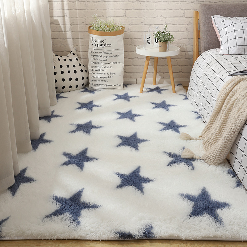 Fluffy Tie Dye Carpets For Bedroom Decor Modern Home Floor Mat Large Washable Nordica in the Living Room Soft White Shaggy Rug 27