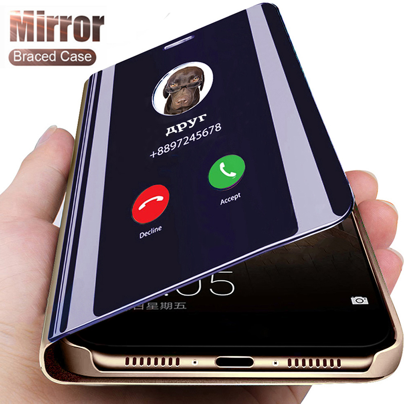 Smart Mirror Phone Case For Xiaomi Redmi Note 9s 8 7 5 6 Pro Max 8T 4 4X Redmi 9A 9 9C K20 Pro 5 Plus 4X 8A 7A 6A S2 Flip Cover(China)