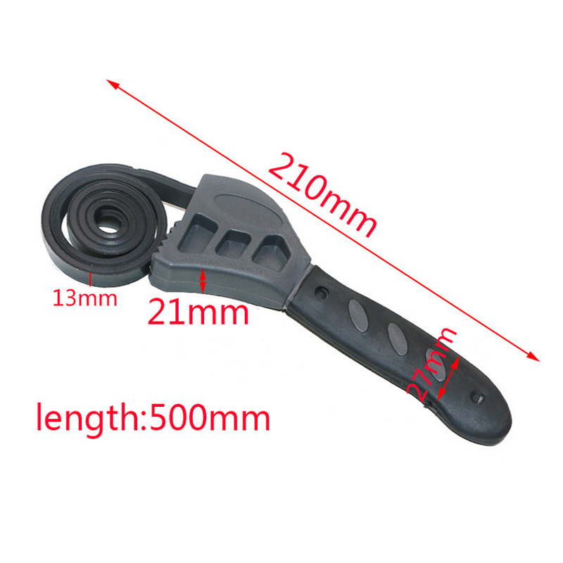 Multi-function 50CM Rubber Belt Wrench Adjustable Bottle Opener Auto Oil Filter Car Repair Spanner Hand Tools DNJ998