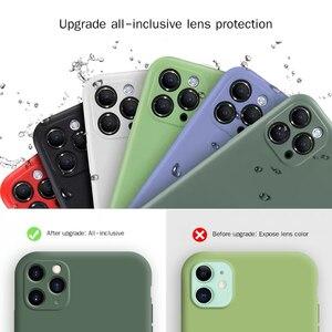 Image 2 - السائل سيليكون iphone11 جراب هاتف كاميرا شاملة للجميع 11pro ماكس الأصلي جديد 11pro عدسة حماية xs ماكس مكافحة سقوط xr