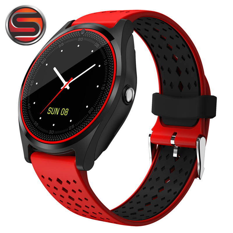 V9 Smart Watch with Camera Bluetooth Smartwatch SIM Card Wristwatch for Android Phone Wearable Devices G11 pk dz09 gt08 meanit m5