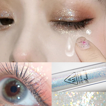 Sombra de ojos con purpurina de diamante para mujer, Nude Maquillaje líquido...
