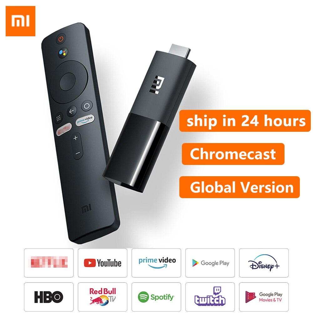 Оригинальный ТВ-стик Xiaomi Mi Android TV 9,0 четырехъядерный Dolby DTS HD Двойное декодирование 1 ГБ 8 ГБ Chromecast Xiaomi TV Stick Xiaomi TV