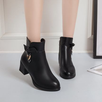 Small Short Boots Women's Thick Heel 2020 Spring And Autumn New Mother Autumn And Winter Shoes Ladies Boots Mid Heel Boots Trend