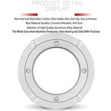 HQ более утолщенная сверхмощная большая резиновая круглая поворотная пластина гладкая поворотная пластина вращающийся подшипник из алюминиевого сплава Lazy Susan