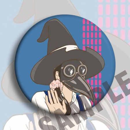 6 Pcs/1 Lot Anime Engelen Van Death Rachel Zack Danny Eddie Cathy Grijs Figuur 4885 Badges Ronde Broche pin Geschenken Kids Speelgoed