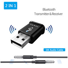 2-in-1 Bluetooth 5.0 Ricevitore Audio wifi Trasmettitore Stereo Bluetooth AUX RCA 3.5 millimetri USB Martinetti Per TV PC Kit Per Auto Senza Fili Adattatore(China)