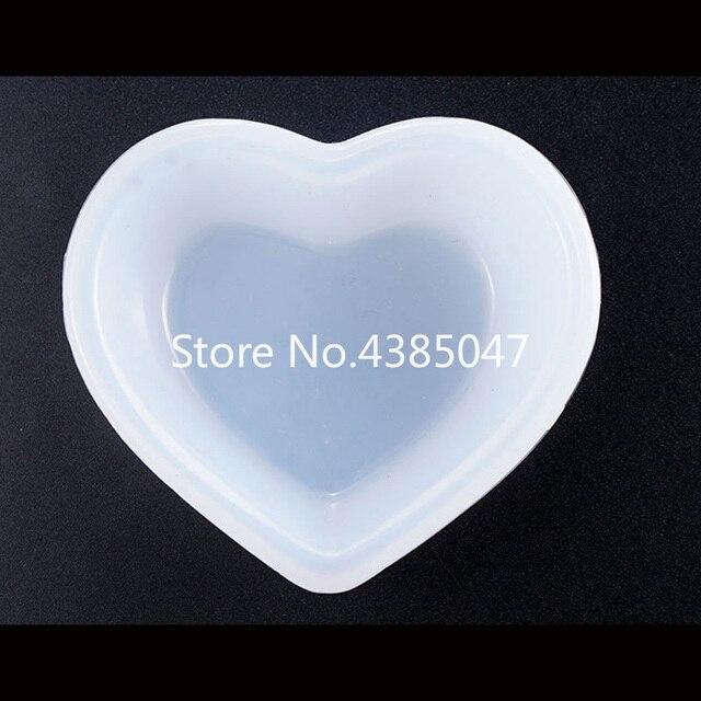 1PC serce kwadratowa płyta miska UV biżuteria z żywicy formy silikonowe biżuteria rzemieślnicza narzędzia akcesoria żywiczne