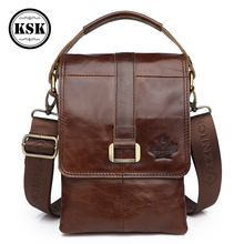 Messenger Bag Men Genuine Leather Bag Shoulder Handbag Cross