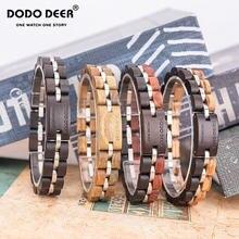 Dodo олень натуральное рукоделие woome деревянный браслет женские