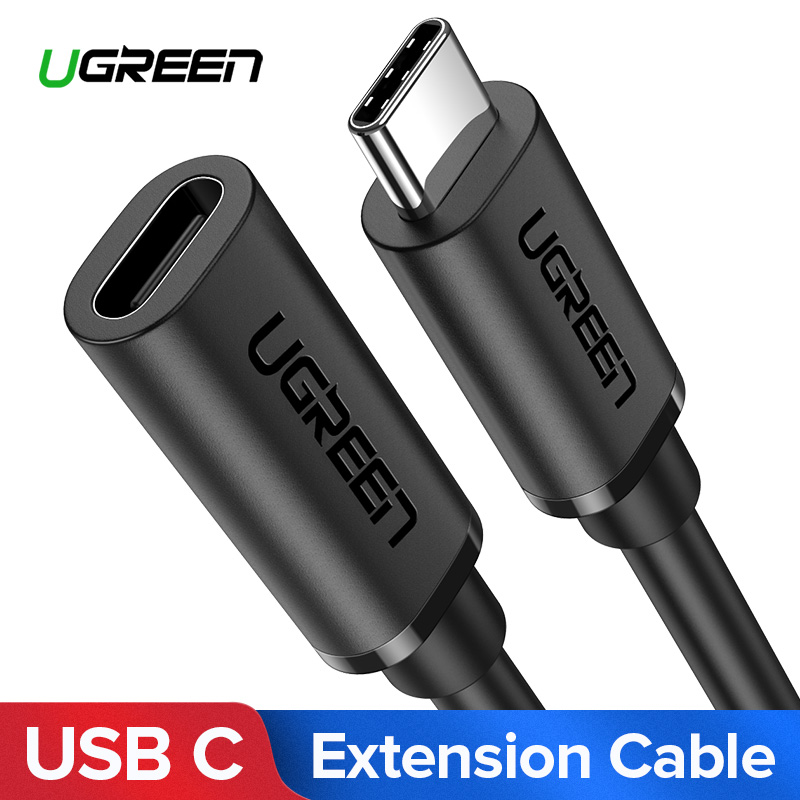 Ugreen USB C Extension Cable Type C Extender Cord USB-C Thunderbolt 3 For MacBook Pro Nintend Switch USB 3.1 USB Extension Cable