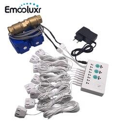 Fajka wodna wykrywacz nieszczelności Alarm dla inteligentny System alarmowy do domu z DN15 DN20 DN25 zawór wody elektromagnetyczny i wycieku kabel czujnika