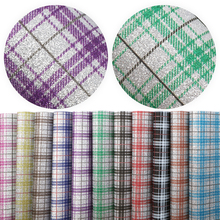 Synthetic-Leather Earrings Plaid Sheets Fabric Glitter for Handbag Diy/1yc9196 Printed