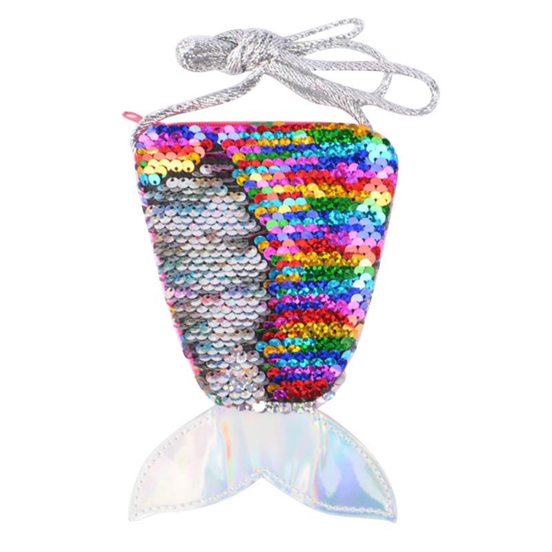 Coin-Purse Shoulder-Bag Mermaid-Tail Sequins Mini Children's Gift-Bag Zipper Kids Fashion