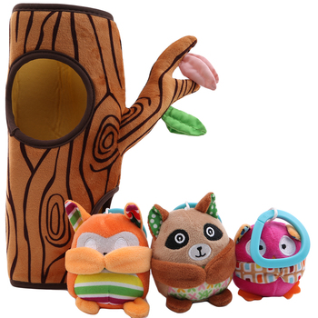 Baby Toys Plush Baby Mobile Rattle Tree Infant Stroller Crib Toys for Newborn 0-12 month Educational Toys For Baby Speelgoed