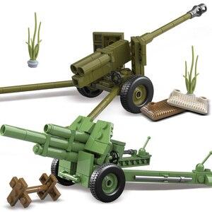 Image 4 - Oenux WW2 la battaglia di mosca scene militari piccolo blocco da costruzione Mini soldato dellesercito russo sovietico figura mattone blocco giocattolo per bambini