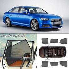 Car Side Windows Magnetic Sun Shade UV Protection Ray Blocking Mesh Visor For Audi A4l 2016
