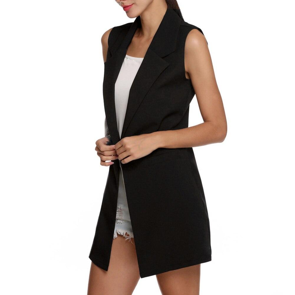H41cf3cecca3b4e4dacd23ae66f322d05V Summer V-Neck Vest Pocket Women Thin Loose Waistcoat Single Breasted Sleeveless Blazer Feminino Short Slim Vest Femme Tide XXL