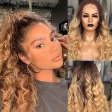 Ombre cor 13x6 perucas dianteiras do laço com cabelo do bebê relação média peruano remy perucas de cabelo humano onda do corpo perucas de cabelo longo para as mulheres