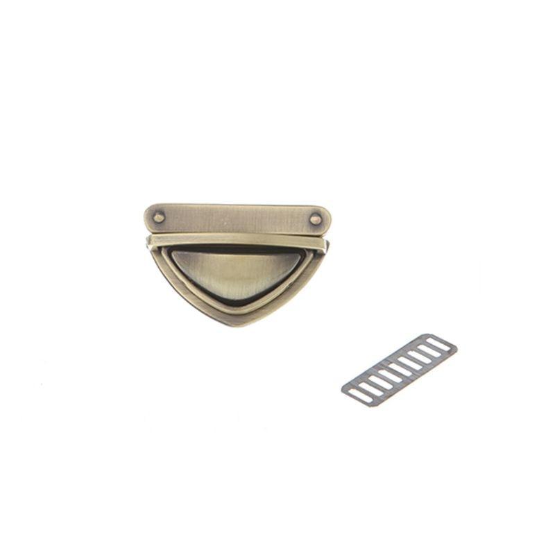 Triangle Shape Clasp Turn Lock Twist Locks For DIY Handbag Shoulder Bag Purse