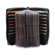 Business men's 100% leather multi-card card package zipper large-capacity credit card package multi-card wallet