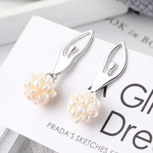 2019 Direct Selling Brincos Para As Mulheres Brinco New Korean Ballet Girl Earrings S925 Needle Ear Nail For Allergy Prevention