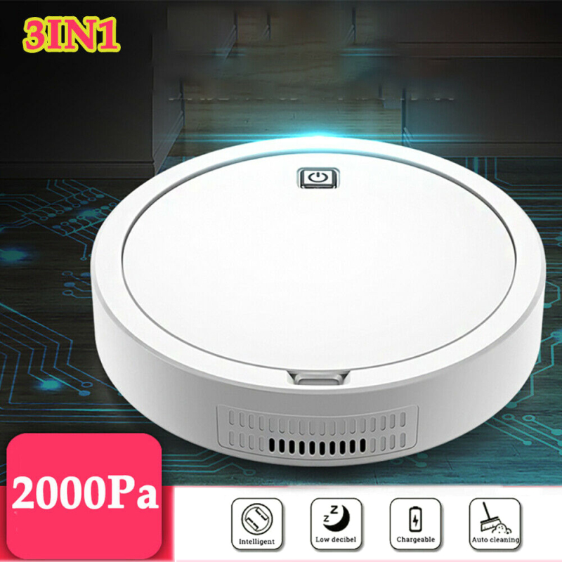 Mini Self Navigated Rechargeable Smart Robot Vacuum Cleaner Auto Sweeper Edge Clean For Home Office Couch Bed Dust Cleaning