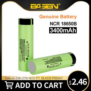 Basen nowy 100 oryginalny 18650 bateria NCR18650B 3 7v 3400mah akumulator litowy do baterii latarki (bez PCB) tanie i dobre opinie GBETA NCR18650B 3400mAh Li-ion 3001-3500 mAh CN (pochodzenie) Baterie Tylko Pakiet 1 1-20 NCR18650B Battery 3300-3400 mAh