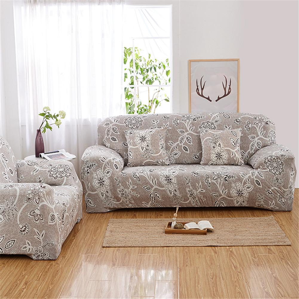 Big Sale D146 Roman Flower Print Sofa Cover Set Elastic