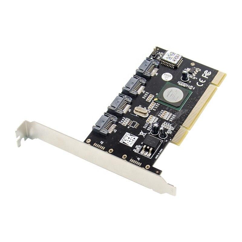 Pci para 4 – o Cartão Sata2.0 para Pci Portas Sata Serial Raid Conversor Controlador i Sil3124 Chipset Slot Gen 2 Ata