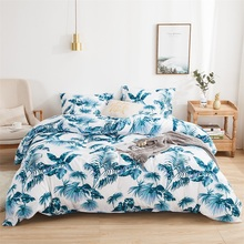 Palm Leaf Floral Bedding Set Duvet Cover 220x240 Queen King Bedclothes Bed Sheet 150x200 Bed Covers Home Comforter