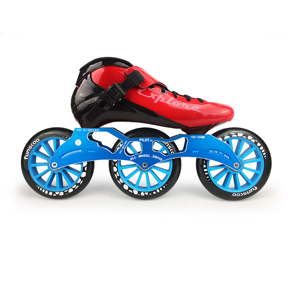 ISPORTS Speed Inline Skates Carbon Fiber Competition Skate 3*125mm or 4*100/110mm Street Racing Skating Patines Rollerblade SH56
