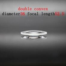 Diameter 36mm Focal Length 52.57mm Optical Double Convex Lens Factory Custom Optical Glass Prism and Lens линза сменная dragon optical d1 xt lens желтый