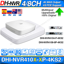 Dahua Original 4K POE NVR NVR4104 P 4KS2 NVR4108 8P 4KS2 With 4/8ch PoE H.265 Video Recorder Support ONVIF 2.4 SDK CGI