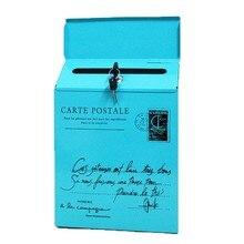 Винтажный Ретро настенный почтовый ящик для газет водонепроницаемый почтовый ящик ретро Американский Сад Украшение