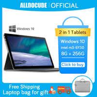 Alldocube aeroespacial 8 Lite 13,3 pulgadas 2K IPS Intel Core M tabletas Windows 10 M3-6Y30 Tablet PC 8GB RAM 256GB ROM SSD KNote8 win10