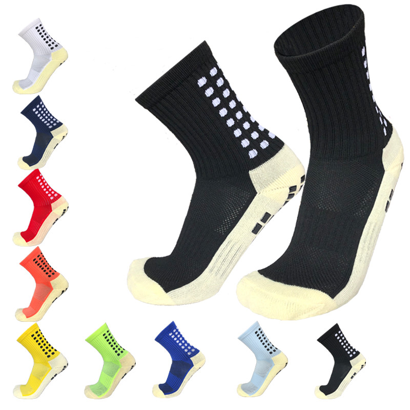 New Anti-slip Plantar Rubber Block Soccer Socks Men Outdoor Sport Football Socks for women