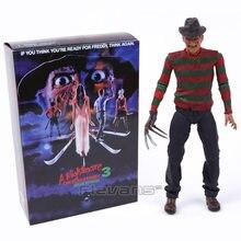 Neca sonho guerreiros freddy krueger pvc figura de ação collectible modelo brinquedo