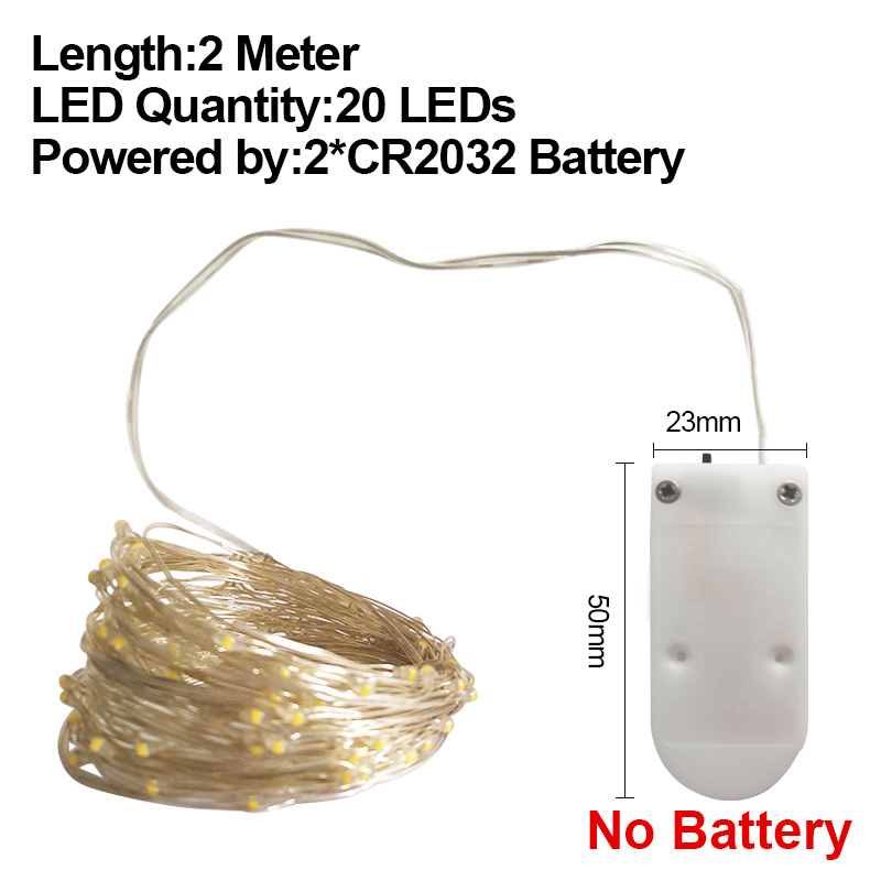 2M CR2032 No Battery