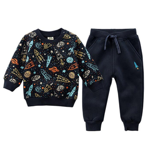 Image 1 - İlkbahar sonbahar bebek kazak erkek kış giysileri spor elbise çocuk giyim çocuk kazak polar bebek takım elbise kız giysileri marka bebek