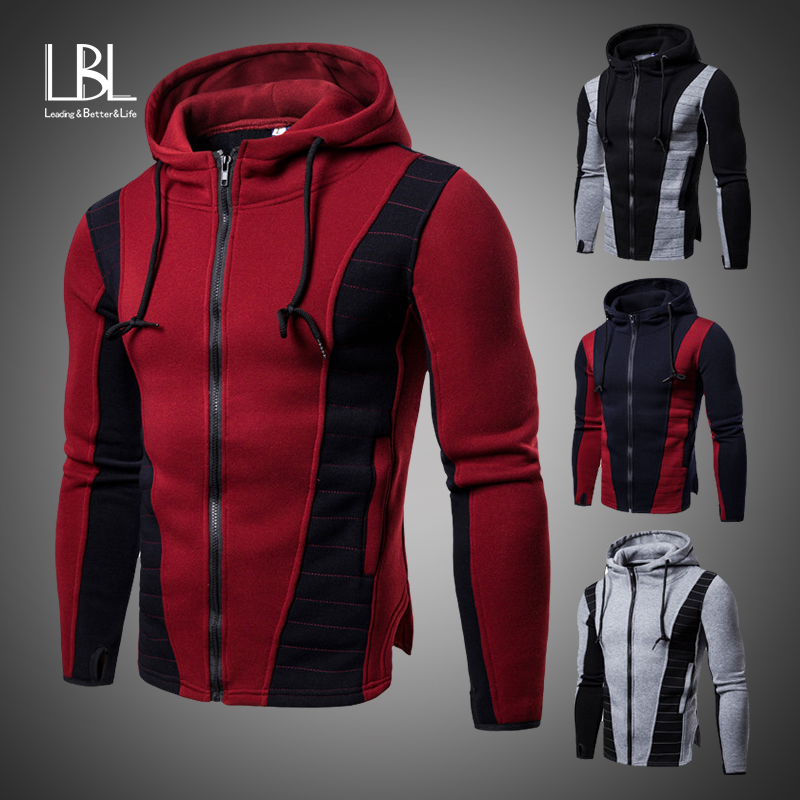 Hoodies Men 2019 Autumn Fashion Tracksuit Sweatshirt Men's Winter Warm Collar Cap Long Sleeves Pullover Hoody Sports Sweatshirts