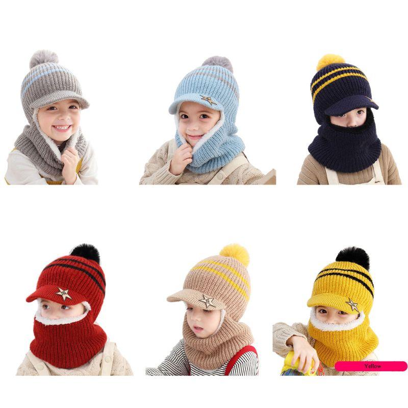 Filles garçons hiver chaud chapeau enfant en bas âge earrabat capuche bébé polaire doublure bonnet Cap