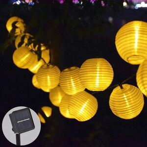 Image 1 - ソーラー庭の装飾のための結婚式の花輪ソーラーストリングライトランタンledソーラーガーデンライトパーティーホリデークリスマスライト