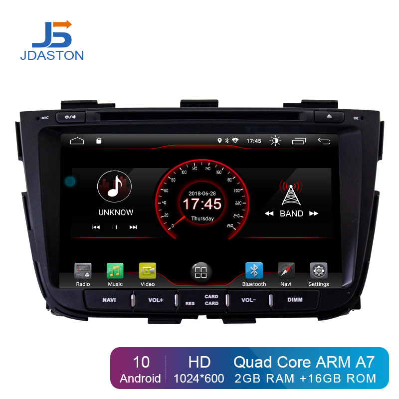 JDASTON Android 10 Car DVD Player For KIA SORENTO 2013 2014 2 Din Car Radio GPS Navigation Stereo WIFI Multimedia Head unit RDS image